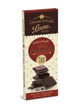 Pastiglie Leon - Cioccolato Leone 74% Cacao 25 gram.