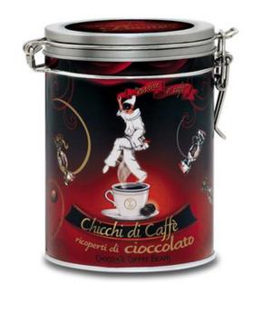 Pastiglie Leon - Cioccolatini di Caffe - chokladtäckta kaffebönor.
