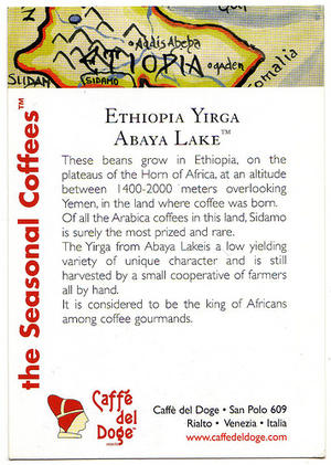 Caffe Del Doge - Single Estate - Ethiopia Yirga Abaya Lake