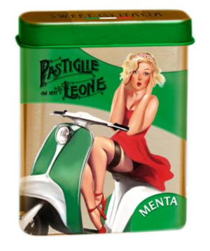 Pastiglie Leone - Pepparmynta Pastiller Pinup ask